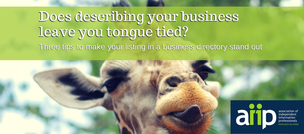 If describing your business leaves you tongue tied, try these three tips for making your business listing stand out