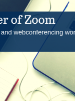 Title image: Zoom - making webinars and webconferencing work for your business