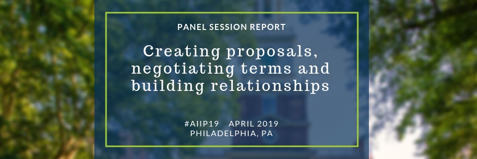 2019 AIIP conference panel session report project scoping proposals costing negotiations
